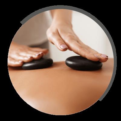 Hot-Stone-Massage bei NOVOTERGUM Physiotherapie